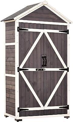 Amazon com : Suncast 6 ' x 3' Vertical Storage Shed