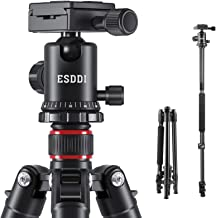 "ESDDI Camera Tripod, DSLR Tripod with 360° Ball Head, 64"" Aluminum Tripod with Monopod 1/4"" Quick Release Plate and Phone ..."