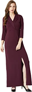 Miss Chase Women's Crepe a-line Dress