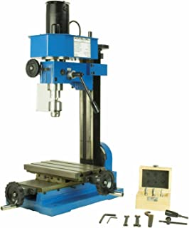 Erie Tools Variable Speed Mini Milling Machine Benchtop Drilling and Machining Gear Driven with Adjustable Depth Stop