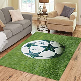 Semtomn Area Rug 2' X 3' Kyiv Ukraine Oct 19 Official UEFA Champions League Season Home Decor Collection Floor Rugs Carpet for Living Room Bedroom Dining Room