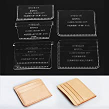 Card Case Template,Card Case Mini Card Holder Template Clear Acrylic Leathercraft Pattern Tool WT818