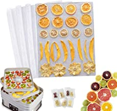 """4Pcs Kitchen Non-Stick Silicone Dehydrator Sheets For Fruit Dryer/Silicone Steamer Mesh/Pad Reusable, Food Dehydrator Sheets Dryer Mesh(14.5""""×16"""") with Food storage bag"""