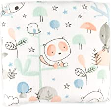 Fabric Editions Exclusive 36'' x 42'' Pre-Cut Forest Friends Flannel, White