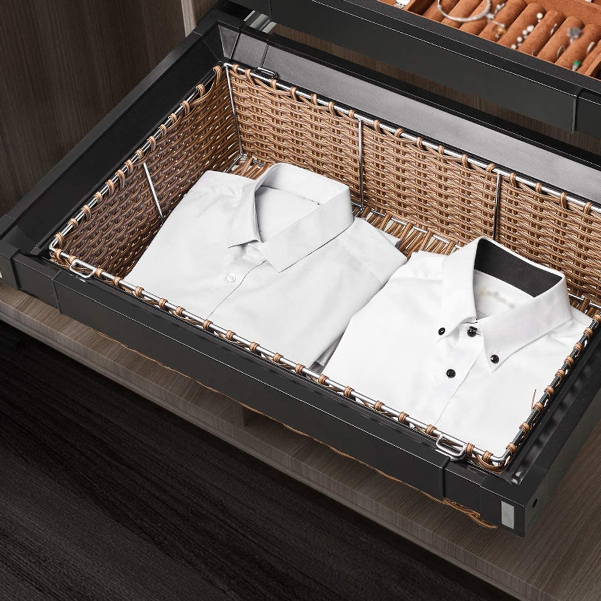 LJ Sliding Cabinet Basket Wardrobe Chicago Mall Baskets Now free shipping Out Dra Pull Storage