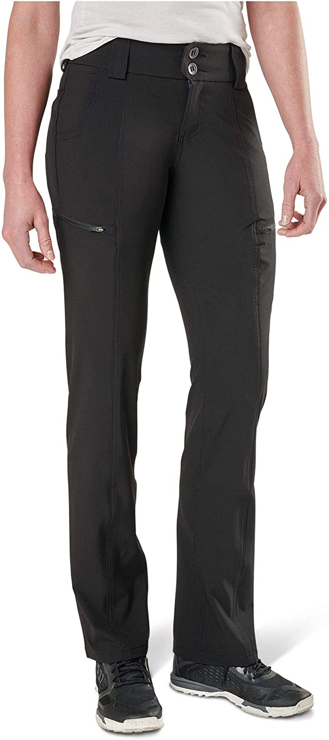 5.11 Tactical Women's Mesa Pants, Cargo Pockets, Contoured Waistband, DWR Finish, Style 64417 Black