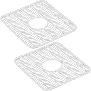 DecorRack 2 Sink Protectors, 12 x 11 inches Each, Kitchen Sink Dish Rack, Protect Sink from Stains, Damage, Scratches, Dis...