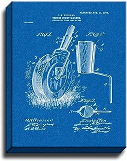 Tennis Court Marker Patent Art Gallery Wrapped Canvas Print Blueprint (24