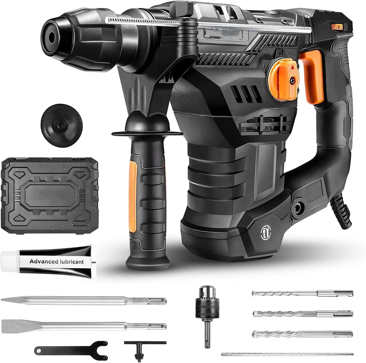 """TRH01A 1-1/4"""" SDS Plus 12.3 AMP Rotary Hammer Drill $60.49 Coupon"""
