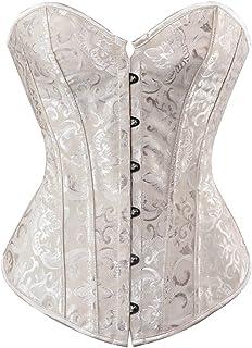 Corsets for Women White Black Corset Top Sexy Bustier Lingerie Waist Cincher Costume Tops