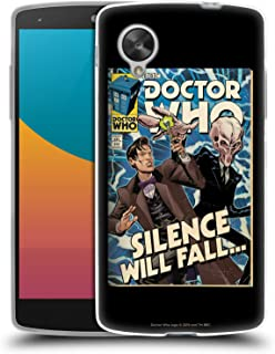 Official Doctor Who Matt Smith VS Silence Classic Comic Covers Soft Gel Case Compatible for LG Nexus 5
