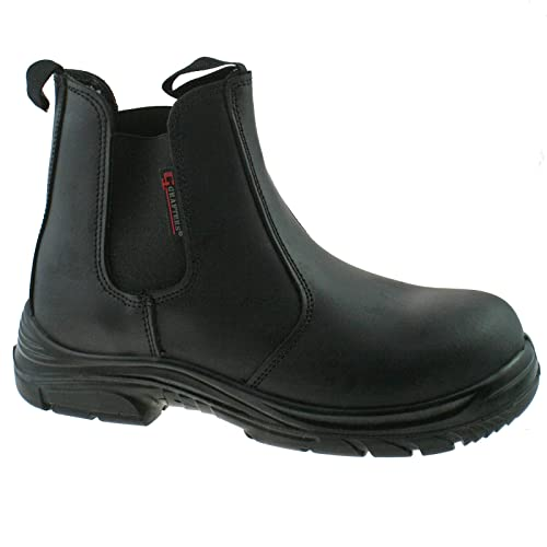 9a5d7ba59586 Grafters Tom Super Wide EEEE Fitting Safety Toe Cap Dealer Boots Midsole