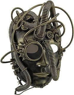 Man Droid Full Face Steampunk Cyborg Mask w/Goggle