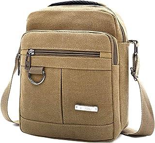 Fanspack Men Shoulder Bag Casual Top Handle Canvas Messenger Bag Crossbody Bag for Work