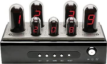 ART & ARTIFACT Radio Tube Alarm Clock - Modern Vintage Look - Tube LED Digital Display