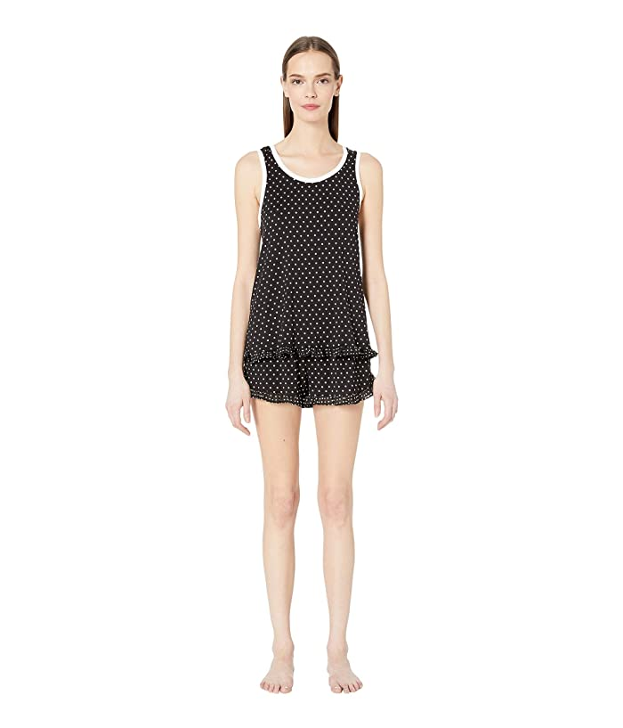 Kate Spade New York Classic Dot Short Pajama Set (Mini Dot Black) Women
