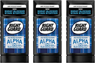 Right Guard Antiperspirant - Best Dressed Collection - Alpha - Invisible Solid - Net Wt. 2.6 OZ (73 g) Per Stick - Pack of 3 Sticks