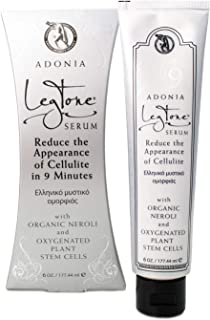 Adonia LegTone Serum - Organic Skin Tightening & Firming Cellulite Wrinkle Cream, Reduces Appearance of Cellulite in 9 Minutes 6.0 Ounce