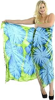 Women's Boho Shawl Beach Towels Sarong Wrap Cover Up Skirt Hand Tie Dye