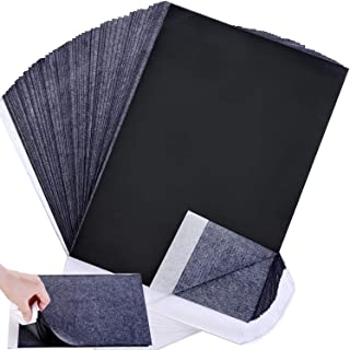 Wangday Senior Carbon Paper, Black Graphite Transfer Tracing Paper for Wood, Paper, Canvas and Other Art Surfaces- 100 Sheets