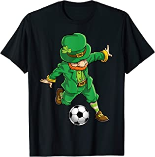 Leprechaun Soccer T Shirt St Patricks Day Boys Girls Kids