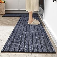 Long Kitchen Rug Washable Floor Mat for Kitchen Front Doormat Outside Entrance Door Anti-Slip Floor Covering Mat 50x80+50x...