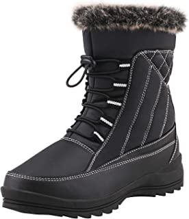Women's Drawstring Snow Boots Fur Lined Winter Boots