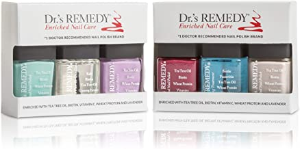 Dr.'s REMEDY, Anti-Fungal Nail Polish ANNUAL Abundance Kit With TOTAL Two-In-One, HYDRATION Nail Treatment, BALANCE Brick ...
