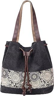 (Black) - Beach Bag Tote Bag Women's Handbag Canvas Shoulder Hobo Bag Shopper Shopping Bag (Black)