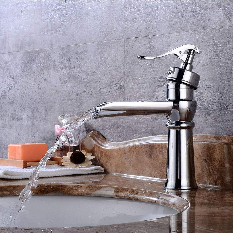 GONGFF Waschtischarmaturen Wasserhahn verzinkter Wasserhahn Waschtischarmatur europischer Jahrgang Warm- und Kaltwasserhahn Unterbau Waschtischarmatur Wasserfallarmatur Wasserhahn Waschtischarmatu