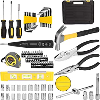 Tide brand tribe 78pcs Hand Tool Set General Household Repair Kit With Plastic Toolbox Storage Case Socket Wrench Screwdri...