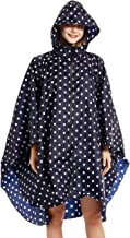 Buauty Womens Hooded Zip Up Waterproof Raincoats Lightweight Poncho with Pockets Outdoors