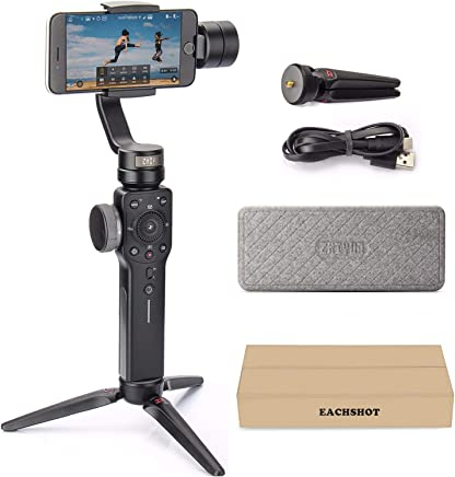 Zhiyun Smooth 4 3-Axis Handheld Gimbal Stabilizer w/Focus Pull & Zoom for iPhone Xs Max Xr X 8 Plus 7 6 SE Android Smartphone Samsung Galaxy S9+ S9 S8+ S8 S7 S6 Q2 Edge Smooth-Q/III New Upgrade Black