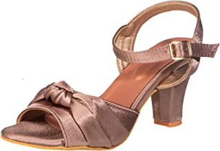 Cleo By Khadim's Fabric/Textile Neolite Sole Lifestyle Pink Solid Sandal For Women