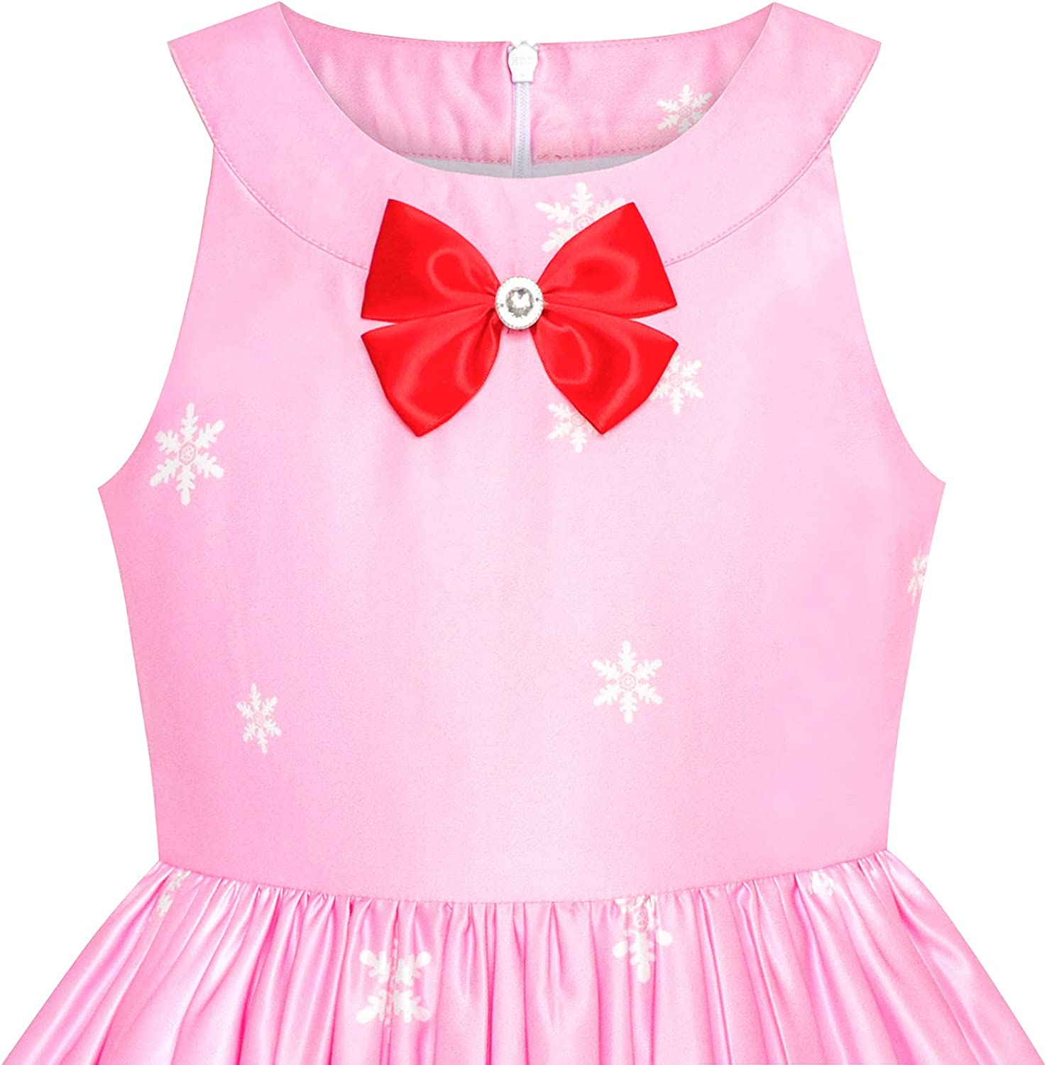 Sunny Fashion Girls Dress Christmas Eve Christmas Tree Snow Reindeer Party Age 7-14 Years