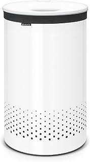 Brabantia Panier à linge avec couvercle en plastique Blanc 60l