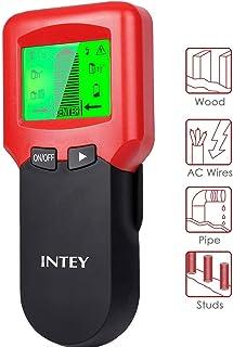INTEY Detector de Pared multifunción 3 en 1 con Pantalla LCD para Metal, Perno de