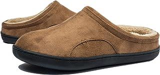 Uomo Pantofole da Casa Antiscivolo in Memory Foam Ciabatte Invernali Calde per Esterno e Interno, Taglia 39-50