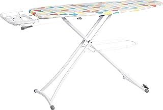 Amazon Basics Planche à repasser avec étagère et repose-fer en forme de H, Grand modèle, 137 x 46 cm - Blanc