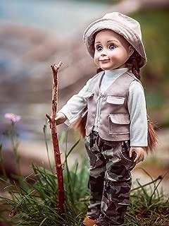 Fishing Adventure Outfit; Pants, Vest, Shirt ,Hat Fits 18