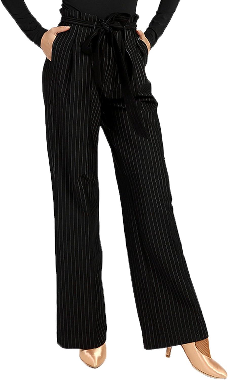 G4002 Modern Ballroom Dance Professional greenical Style Trousers Pants (Waist Strap Design)
