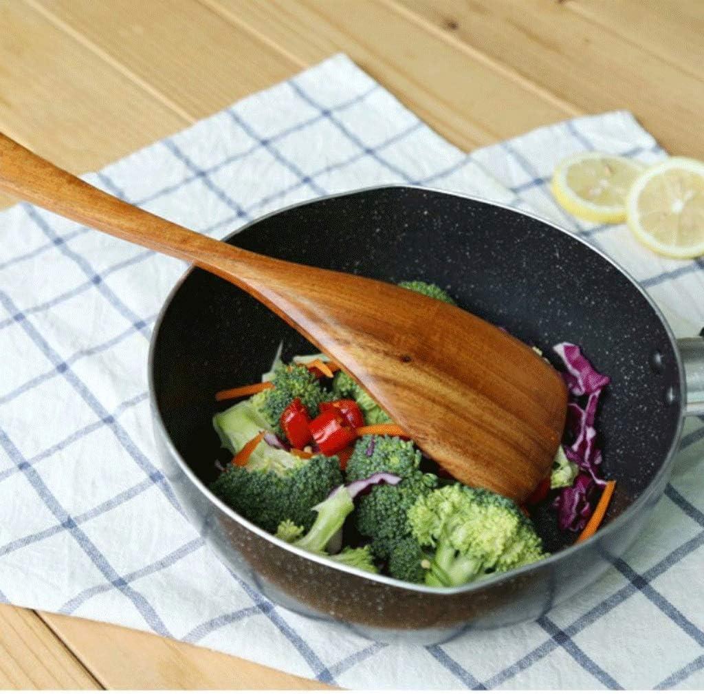 Fengli - Ustensiles de cuisine - Cuillère en bois - Avec manche long - Batterie de cuisine - Batterie de cuisine - Ensemble cadeau (couleur : B) B