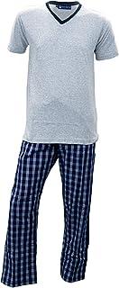 Manchester Pijama Color Gris y Marino Algodón y Poliéster