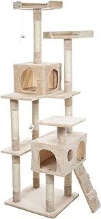 PETMAKER Skyscraper Sleep & Play Cat Tree, 5.5', Beige