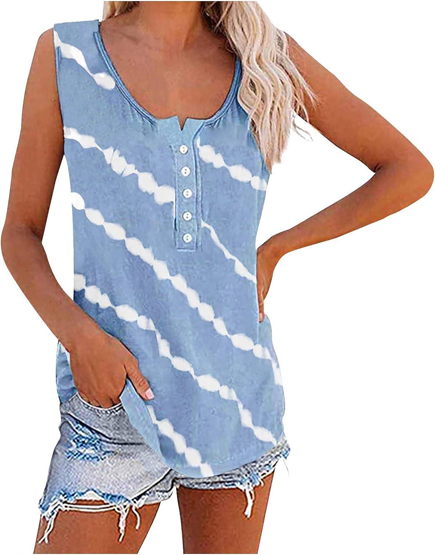 Vest for Women Fashion Printed T-Shirt Womens T Shirts Crewneck Summer Tops