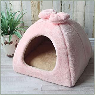 Pet Cat Cave House Foldable Tent Soft Dog Bed Cute Kennel Nest Small Animals Puppy House with Mat