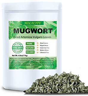 Dried Mugwort Leaves, 4oz(114g), Natural Artemisia Vulgaris Herb Loose Leaves