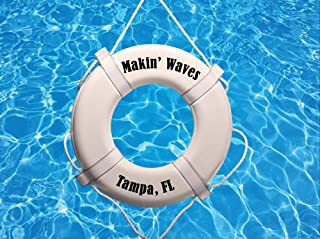 Sporty's Preferred Living Coast Guard Approved Boat Personalized Pool Buoy Life Ring Saver Safety Float Wall Decor