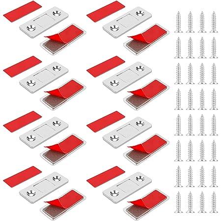 Jooheli Lot de 8 Loquet Magnétiques ultra fins pour armoire de cuisine Aimant porte Placard
