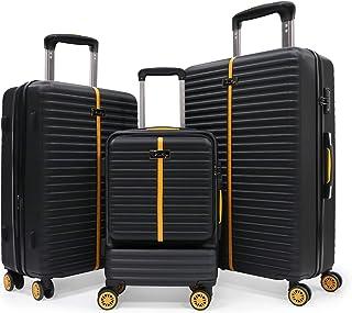 3 Piece Luggage Sets, Hardside Travel Rolling Suitcase with TSA Lock, Hardshell Spinner Luggage Upright with Telescoping H...